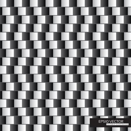 deceptive: Optische illusie - parallelle lijnen gemaakt van zwart en wit kussens EPS10 Vector Illustratie Stock Illustratie