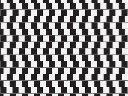 Illusion d'optique - lignes parallèles faites à partir des oreillers en noir et blanc