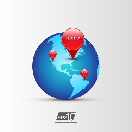 GPS Globe Icon   Vector