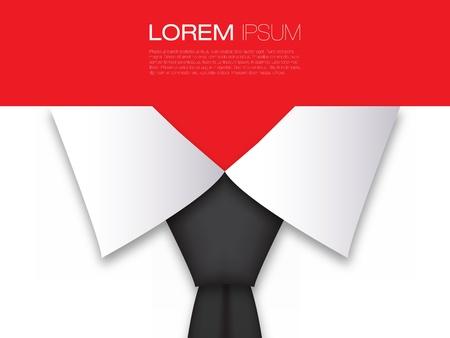 Empresas de diseño de tarjeta de diseño moderno con corbata Negro