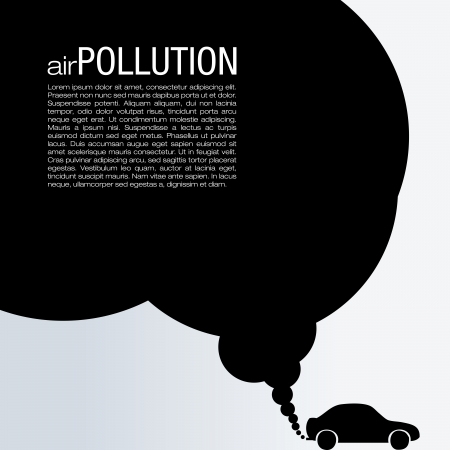 black smoke: Air Pollution Vector Design