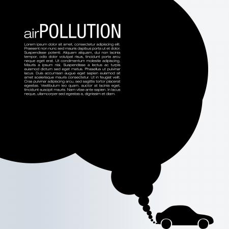 contaminacion aire: Contaminaci�n del Aire Vector Dise�o