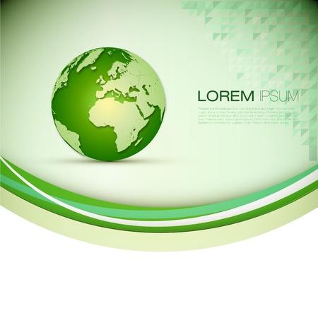 international internet: 3D Globe Illustration   Modern Elegant Business Layout