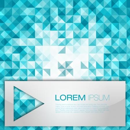 застекленный: Blue абстрактного геометрического фона мозаики иллюстрации современной планировкой