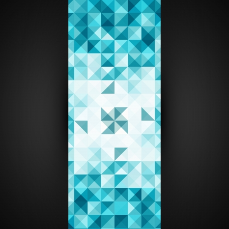 Blue Abstract Geometrical Background Template   Mosaic Illustration   Modern Layout Stock Vector - 18264007