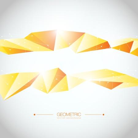 Fond coloré géométrique Disposition de conception