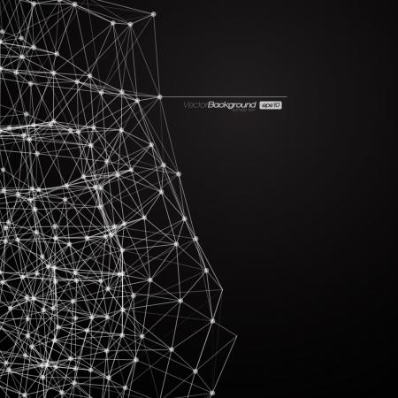poligonos: Blanco y Negro L�neas Moderno ilustraci�n de fondo