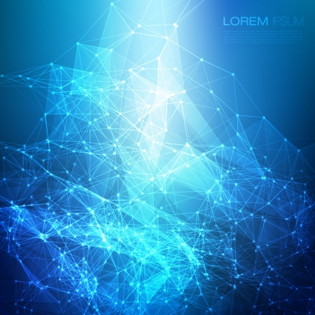 Abstract mesh background with circles, lines and shapes    Futuristic Design