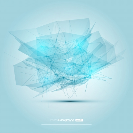 Abstract mesh background with circles, lines and shapes   Futuristic Design Stock Vector - 18278241