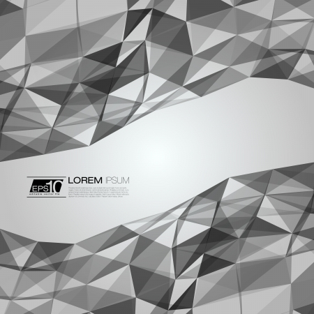Black and White Abstract Triangles Vector Background   EPS10 Business Layout Stock Vector - 18333522