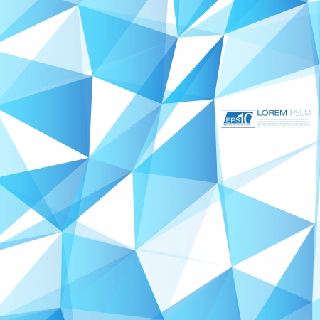 Blue Abstract Triangles Vector Background   EPS10 Business Layout Stock Vector - 18333510
