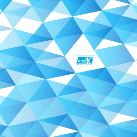 Blue Abstract Triangles Vector Background   EPS10 Business Layout Stock Vector - 18333530