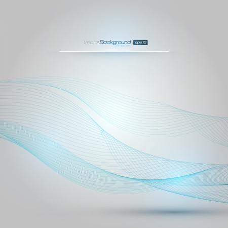 Abstract Blue Lines Design Layout   EPS10 Vector Design Stock Vector - 19000821