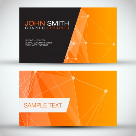 a card: Orange Modern Abstract Business - Card Set   EPS10 Vector Design