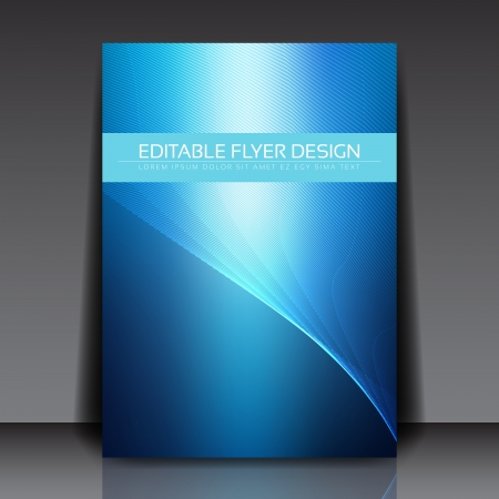 Blue Modern Business Lines Flyer Vector Background   EPS10 Design Layout Stock Vector - 19000816