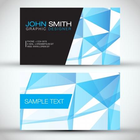 Blue Modern Business Card Set Reklamní fotografie - 19000811