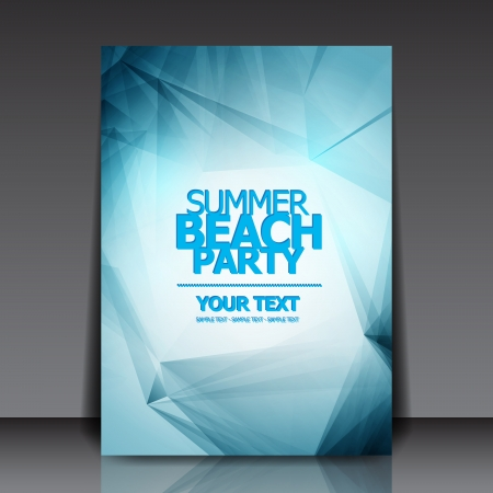 Design for Summer Party Flyer  Illustration