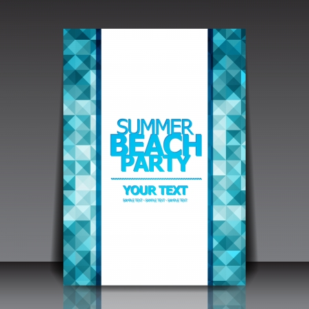 Design for Summer Party Flyer Ilustrace