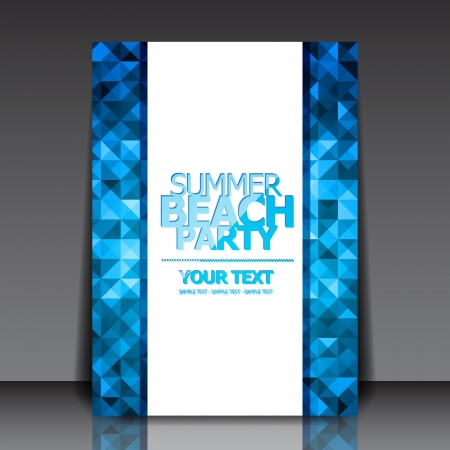 summer party: Design for Summer Party Flyer Vettoriali