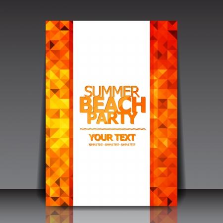flyer musique: Conception de brochure Summer Party