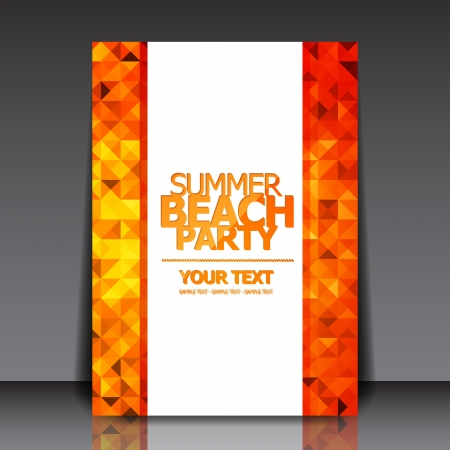 Design for Summer Party Flyer Vector