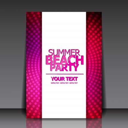 flyer musique: Design for brochure Summer Party