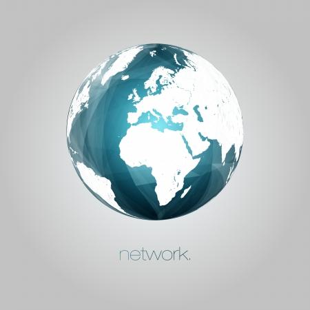 3D Globe Vector Background   EPS10 Editable Design Stock Vector - 19000830