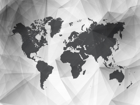 Black and White Detailed Vector World Map   EPS10 Design