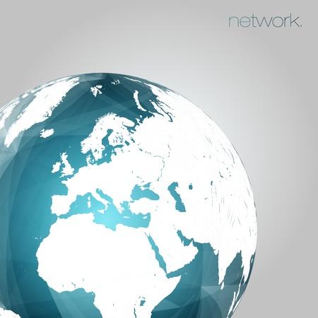 3D Globe Vector Background   EPS10 Editable Design Stock Vector - 19000831