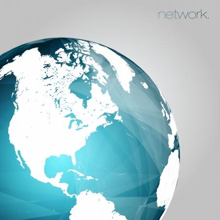 3D Globe Vector Background   EPS10 Editable Design Stock Vector - 19000833