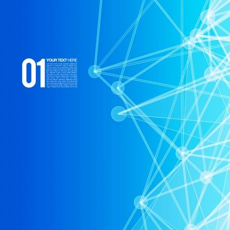 сеть: 3D Blue абстрактного фона сетки с кругами, линий и фигур Иллюстрация