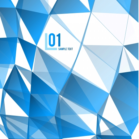 Blue Abstract Triangles Vector Background  Business Layout Stock Vector - 21446171