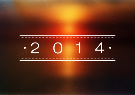 Happy New Year 2014 Beach Sunrise Bokeh   Vector