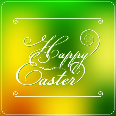 Happy Easter Typography Design   Vector Illustration Vector