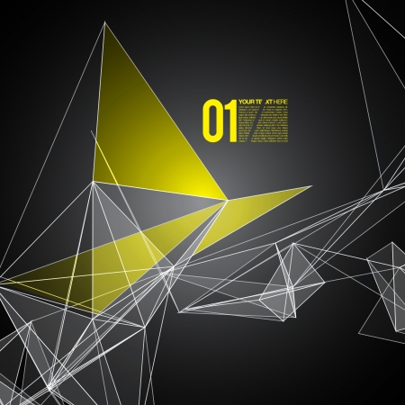 Abstract mesh background with circles, lines and shapes   Futuristic Design Reklamní fotografie - 25255275