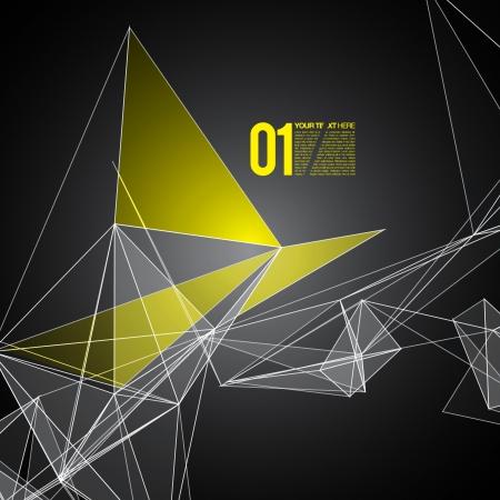 Fondo abstracto con malla círculos, líneas y formas de diseño futurista Ilustración de vector