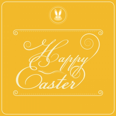 Happy Easter Typography Design   Illustration with Seasonal Element Stock Vector - 25255276