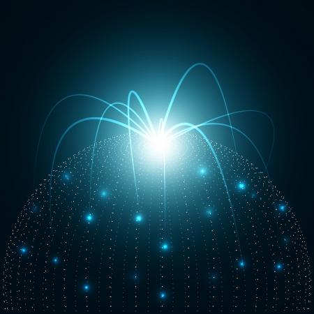 3D Abstract Network Vector Illustration Reklamní fotografie - 25257833