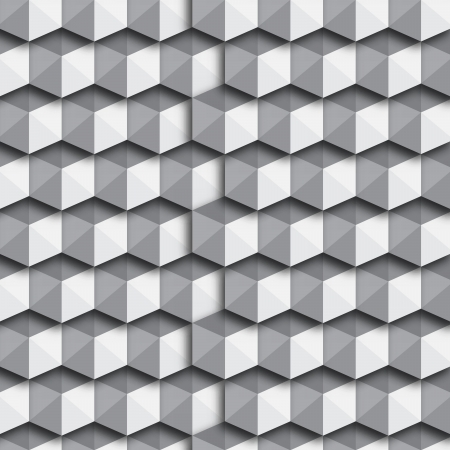 Black and White Cubes Seamless Pattern Background   EPS10 Vector Illustration Vector