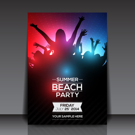 Summer Beach Party Flyer Foto de archivo - 26592979