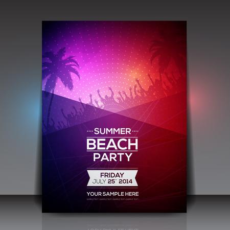 夏のビーチ パーティーのフライヤー