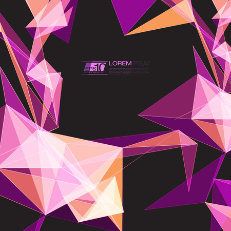 fractal pink: Abstract mesh background with circles, lines and shapes