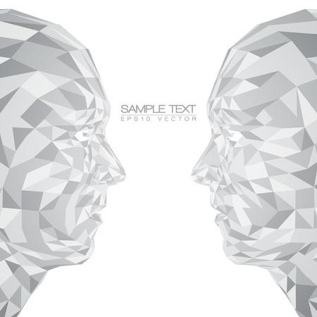 forme geometrique: Futuriste concept abstrait 3D Faces par Formes EPS10 Vector Design Illustration