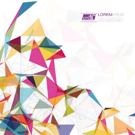 Streszczenie tle siatki z okręgów, linii i kształtów futurystyczny EPS10 Ilustracja