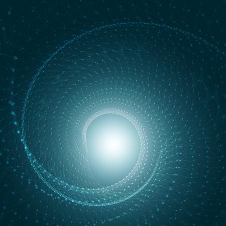 귀하의 비즈니스를위한 원, 선과 도형 EPS10 디자인 레이아웃과 3D 블루 추상 메쉬 배경