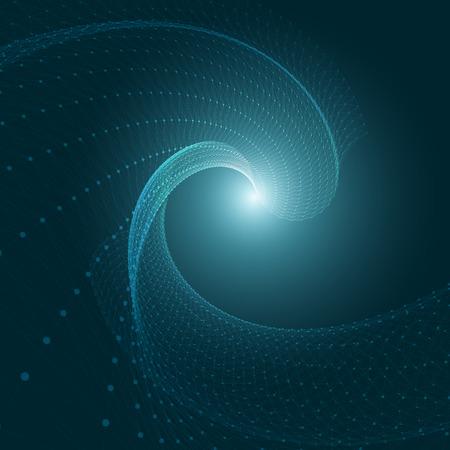 3D Fondo azul abstracto con malla Círculos, líneas y formas EPS10 disposición de diseño para su negocio Vectores