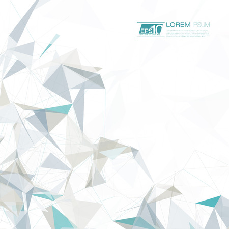 Abstracte maas achtergrond met cirkels, lijnen en vormen EPS10 Futuristische Design Stock Illustratie