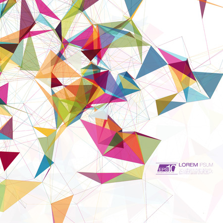 triangle background: Abstract mesh background with circles, lines and shapes   EPS10 Futuristic Design