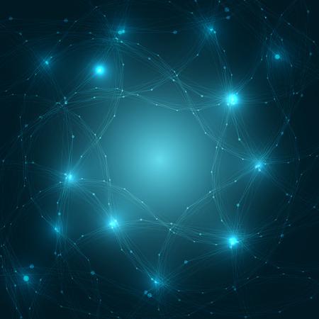 抽象的な脳ネットワーク背景 |EPS10 ベクトル イラスト  イラスト・ベクター素材