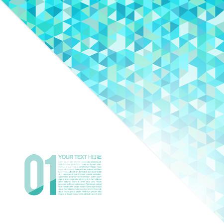 블루 추상적 인 기하학적 배경 | 모자이크 벡터 일러스트 | 현대 레이아웃